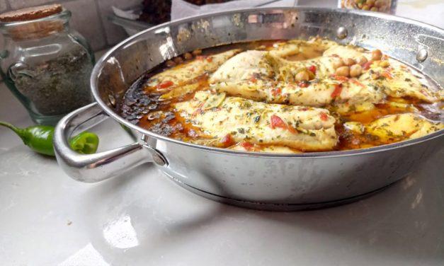 פילה דג עם חומוס